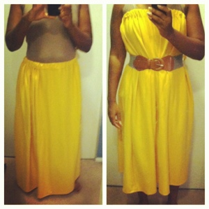 Yellow maxi skirt/dress